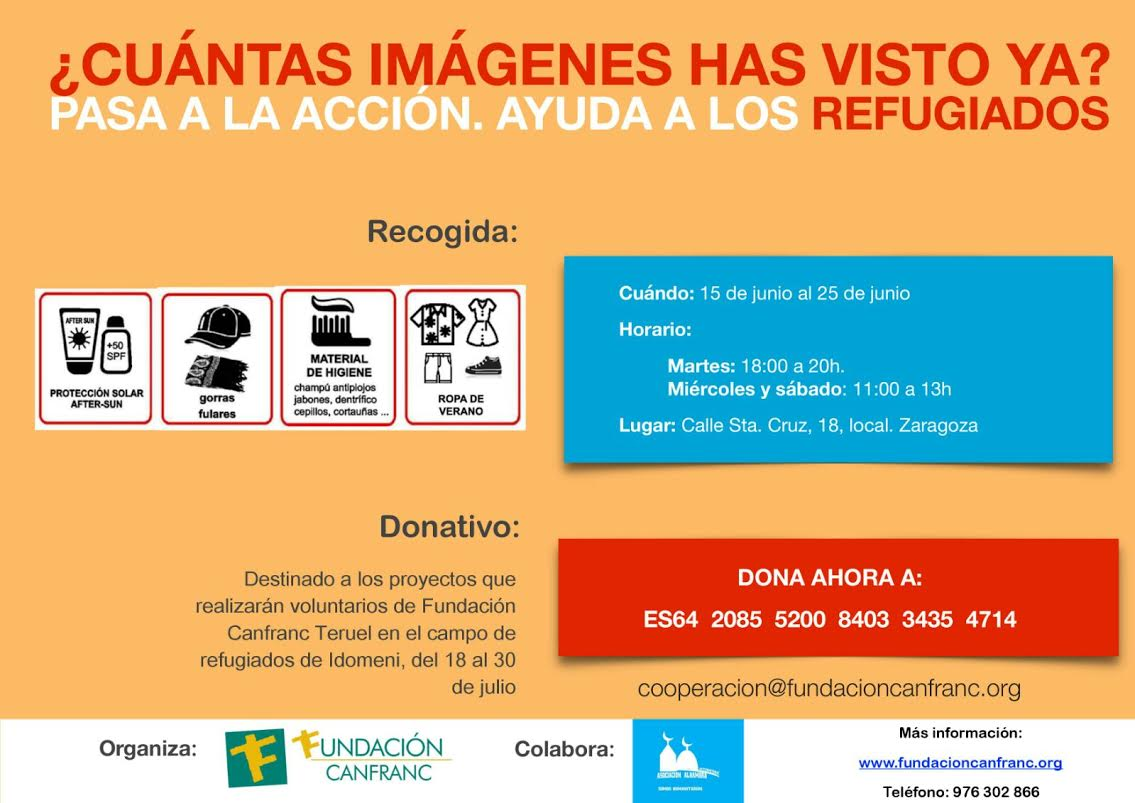 Pasa a la acción!! Ayuda a los Refugiados